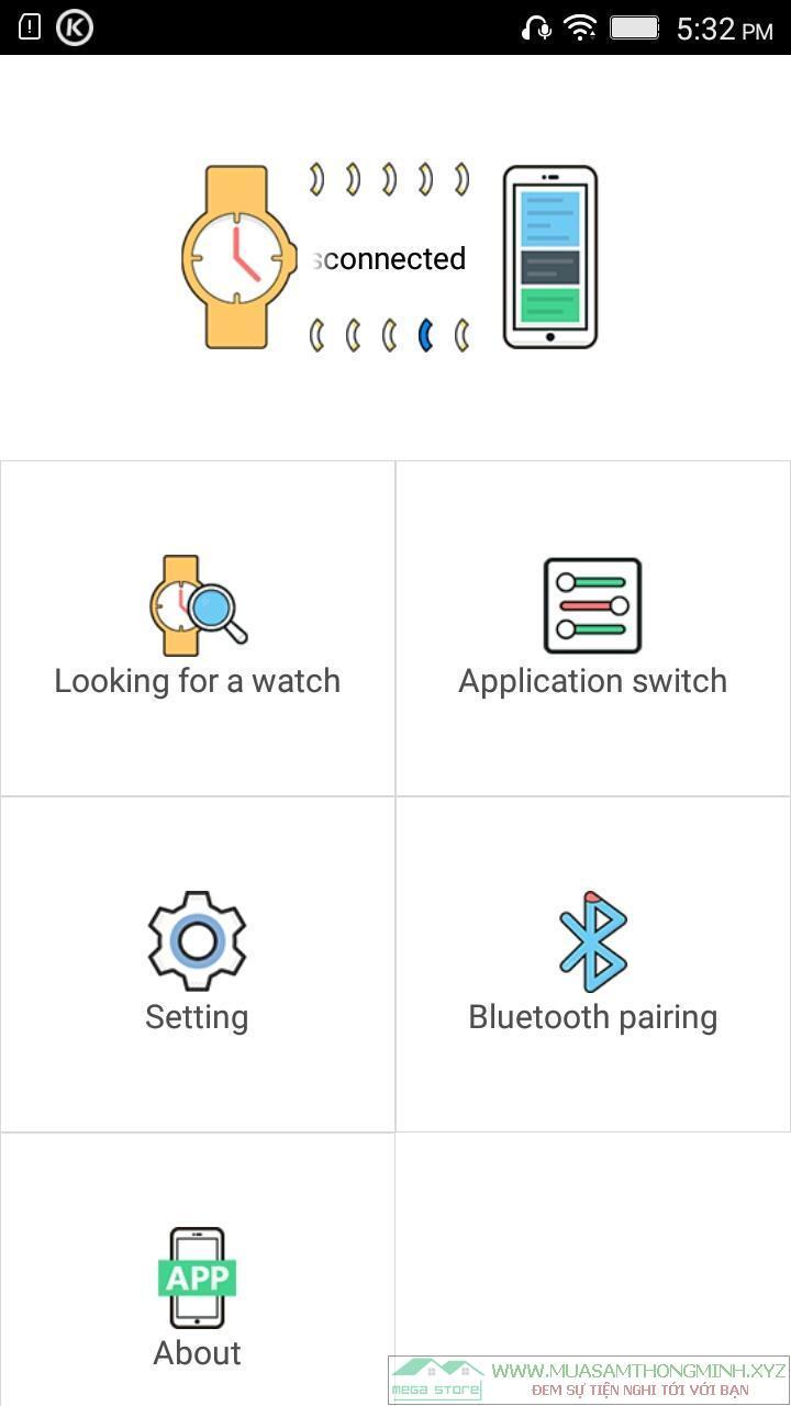 Phần mềm kết nối đồng hồ thông minh Smart Watch với điện thoại Android và IPhone