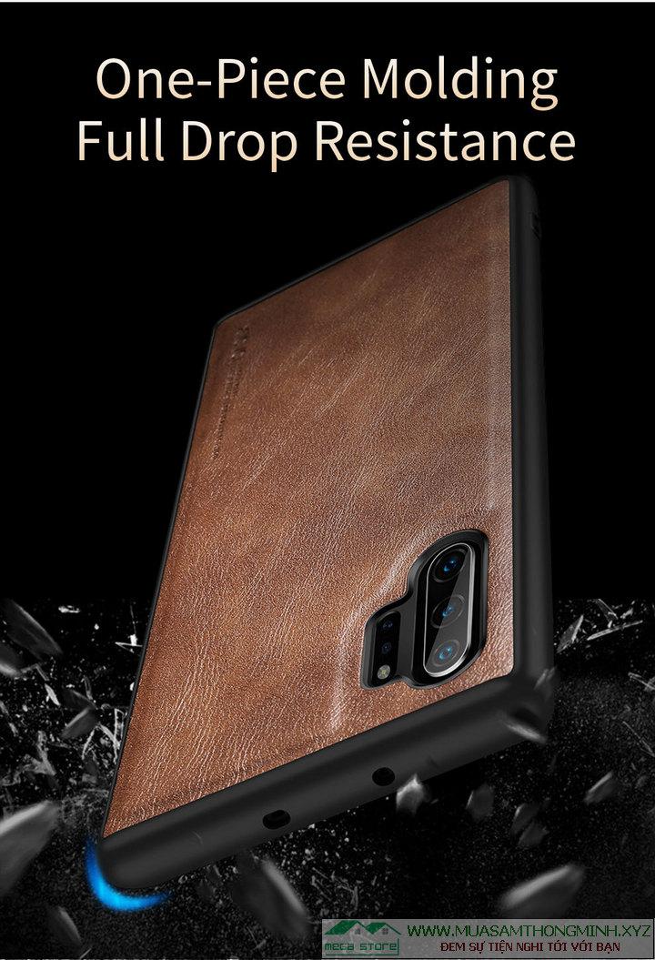 Ốp lưng điện thoại Samsung Note 10 Plus da bò cao cấp X-Level