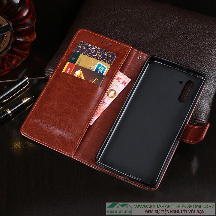 Bao ví da bò Samsung Galaxy Note 10 sang trọng và tiện lợi IDEWEI