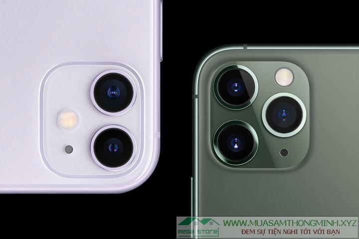 Sự khác biệt về cụm camera giữa iPhone 11 với iPhone 11 Pro và Pro Max