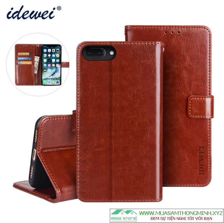 Bao Da Điện Thoại iPhone 8 Plus – 5.5 inch – Da Bò Xịn – Chính Hãng IDEWEI