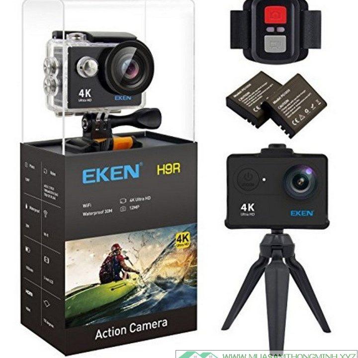 Camera hành trình thể thao Eken H9R 4K Ultra HD - Wifi - Hàng nhập khẩu chính hãng