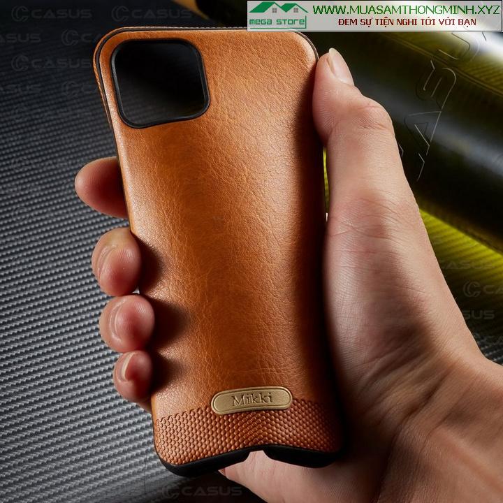Ốp lưng da Điện Thoại iPhone 11_6.1inch, iPhone 11 Pro_5.8inch, iPhone 11 Pro Max_6.5inch – Chính Hãng Mikki