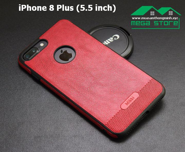 Ốp Lưng iPhone 8 & iPhone 8 Plus – Da Bò Xịn - Nhập Khẩu Chính Hãng Mikki