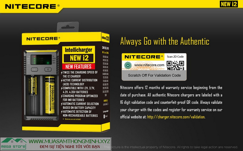 Nitecore thương hiệu sạc hàng đầu thế giới.