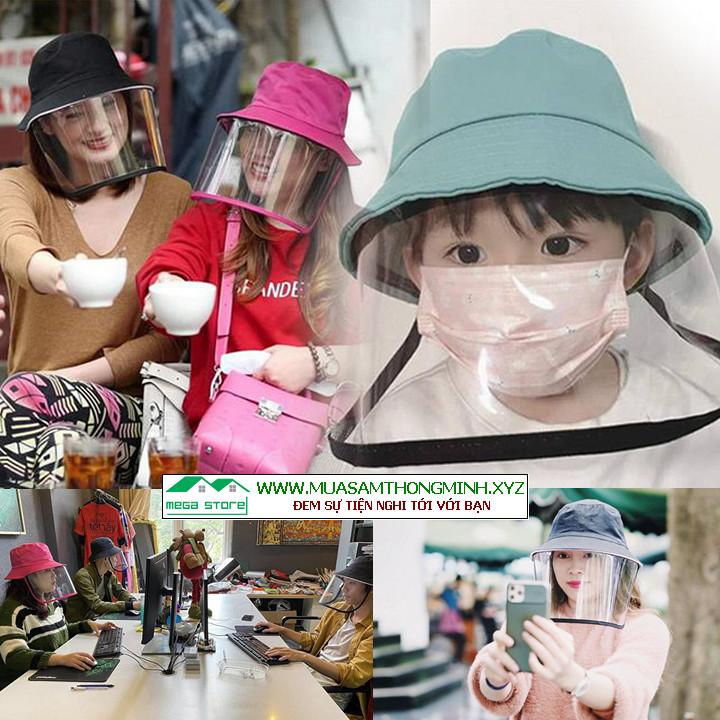 Mũ Nón chống dịch virus corona, Chống bụi, Chống khuẩn cho trẻ em và người lớn