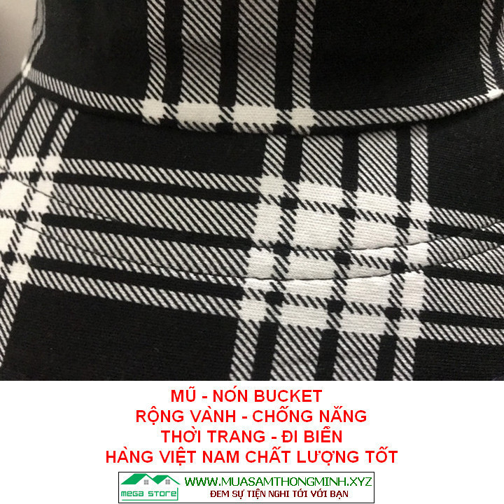 Mũ - Nón Bucket rộng vành che nắng mưa, thời trang nam nữ, hàng Việt nam sản xuất