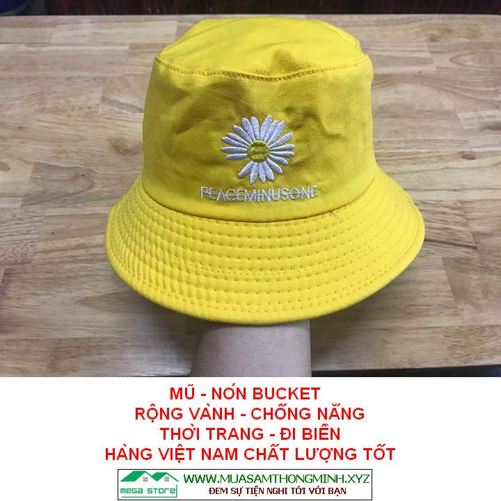 Mũ - Nón Bucket Trẻ Em, Mũ - Nón Rộng Vành Che Nắng Mưa, Hàng Việt Nam Sản Xuất