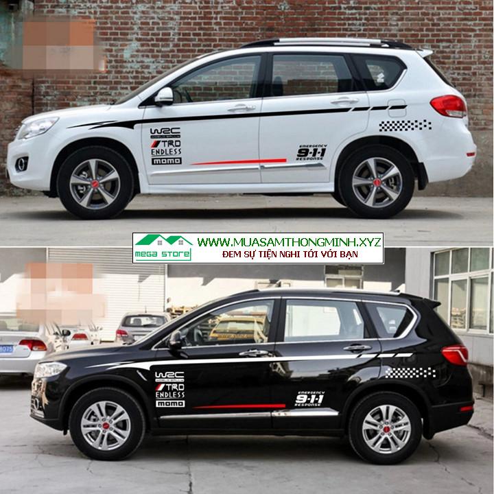 Bộ tem xe SUV Haval H5 đẹp, thể thao, cá tính, tem trang trí 2 bên thân xe ô tô