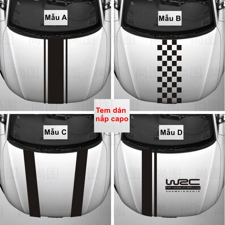 Tem nắp capo xe hơi WRC trang trí xe đẹp và cá tính