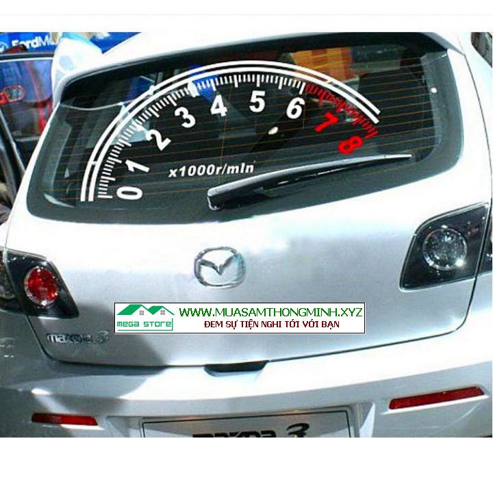 Nhãn dán đồng hồ đo tốc độ cho kính chắn gió phía sau xe