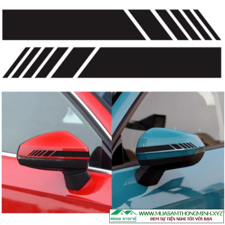 Tem gương chiếu hậu phản quang, nhãn cảnh báo giúp lái xe an toàn
