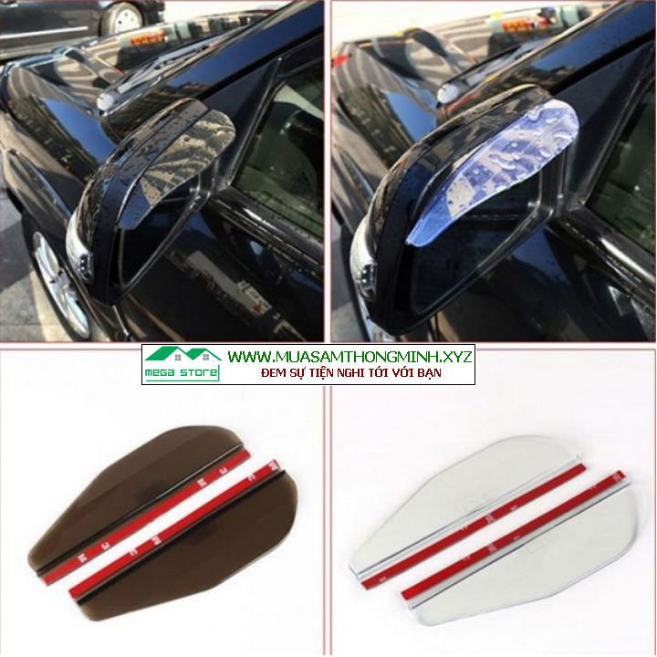 Vè che mưa cho gương chiếu hậu xe ô tô, bộ 2 miếng hiệu quả và an toàn
