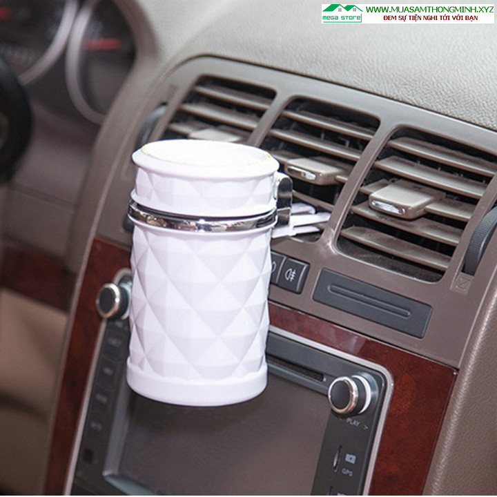 Gạt tàn thuốc lá cao cấp cho ô tô có đèn Led