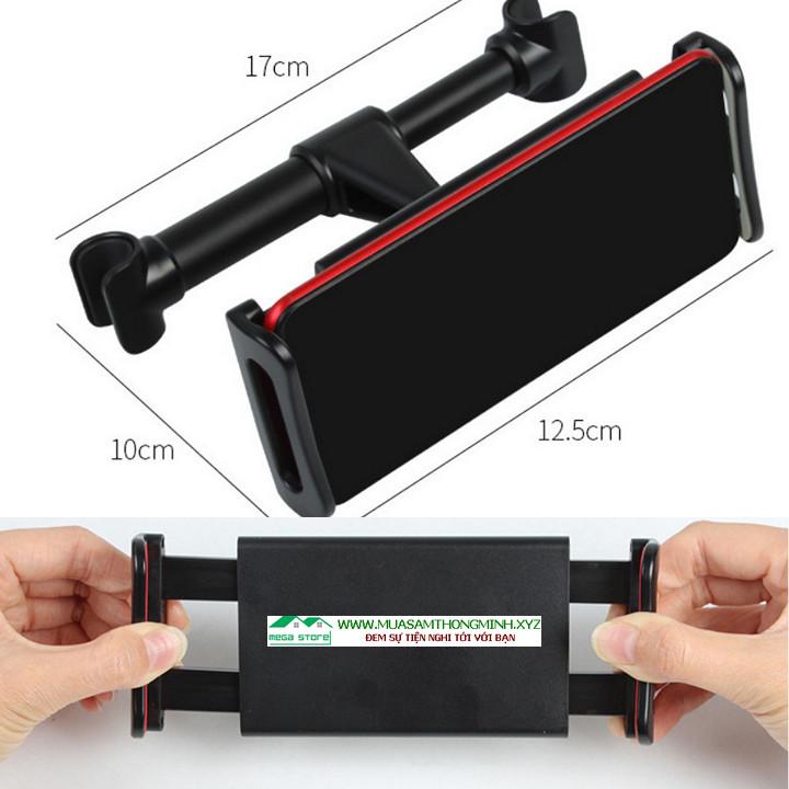 Kẹp giữ điện thoại có khả năng điều chỉnh kích thước linh hoạt, dùng được cho các loại điện thoại và máy tính bảng