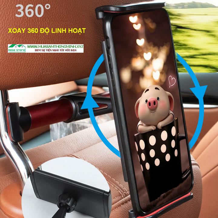 Giá đỡ điện thoại, máy tính bảng sau ghế xe hơi - Tiện lợi và sang trọng