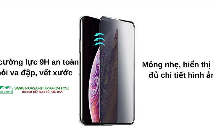 Kính cường lực chống nhìn trộm cho iPhone 11, iPhone 11 Pro, iPhone 11 Pro Max