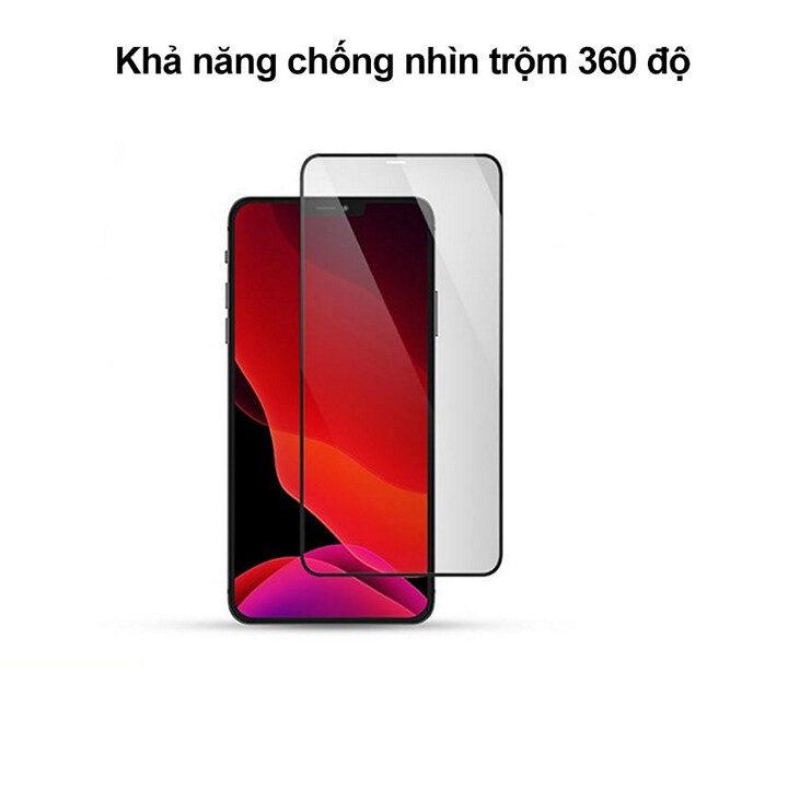 Kính cường lực chống nhìn trộm iPhone 12 Mini, iPhone 12, 12 Pro, 12 Pro Max