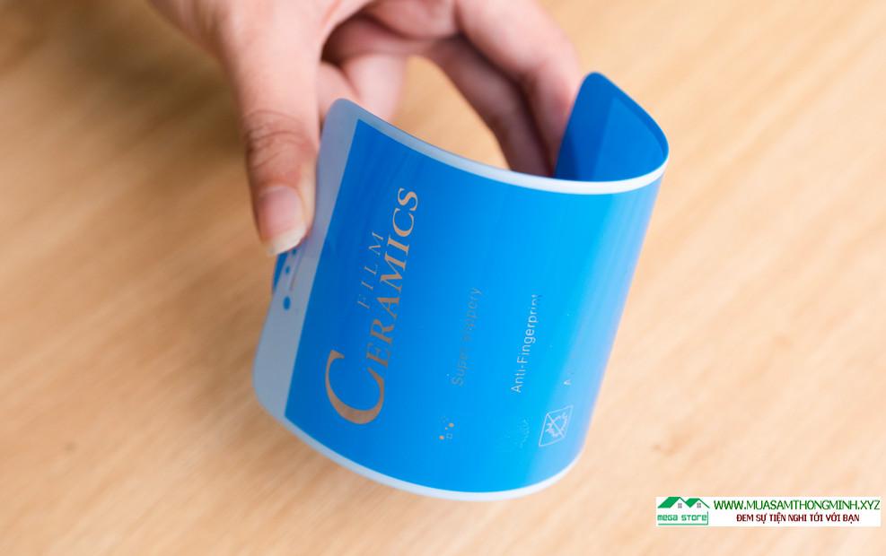 Ưu điểm vượt trội của miếng dán cường lực dẻo Ceramic là thiết kế full màn cùng độ mỏng ưu việt