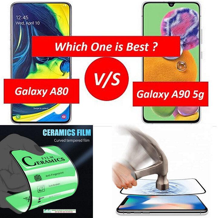 Kính cường lực Samsung Galaxy A80, Samsung Galaxy A90 độ cứng H9