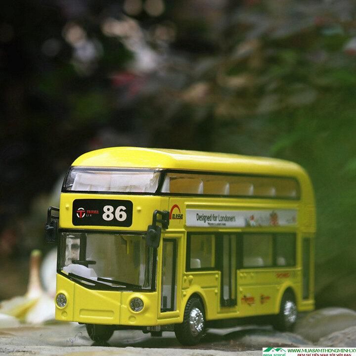 Mô hình xe buýt Londoners city 2 tầng bằng kim loại - Tỷ lệ 1:32