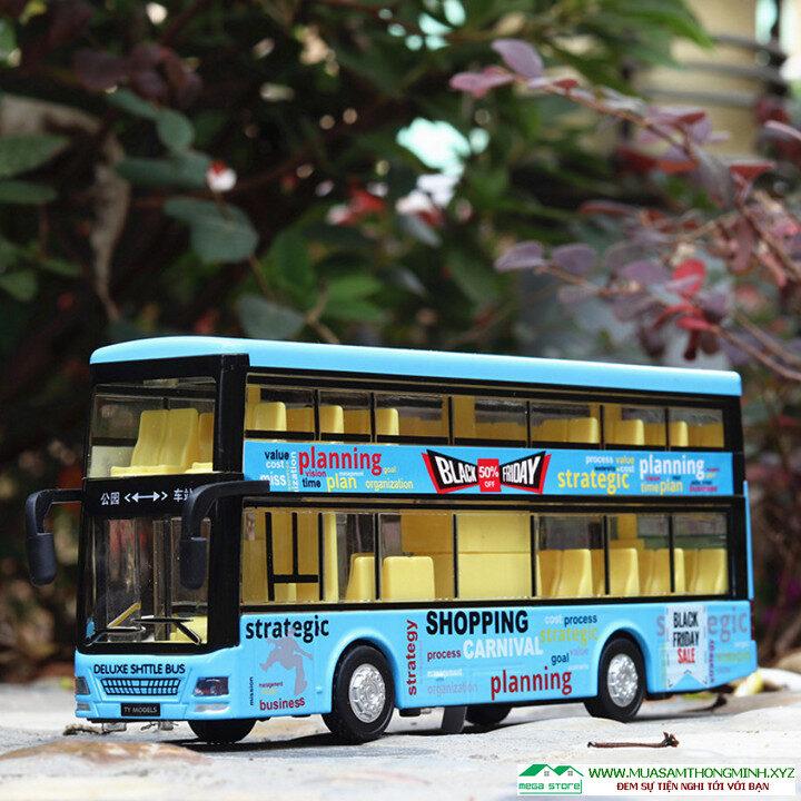 Mô hình xe buýt Vienna city 2 tầng bằng kim loại - Tỷ lệ 136