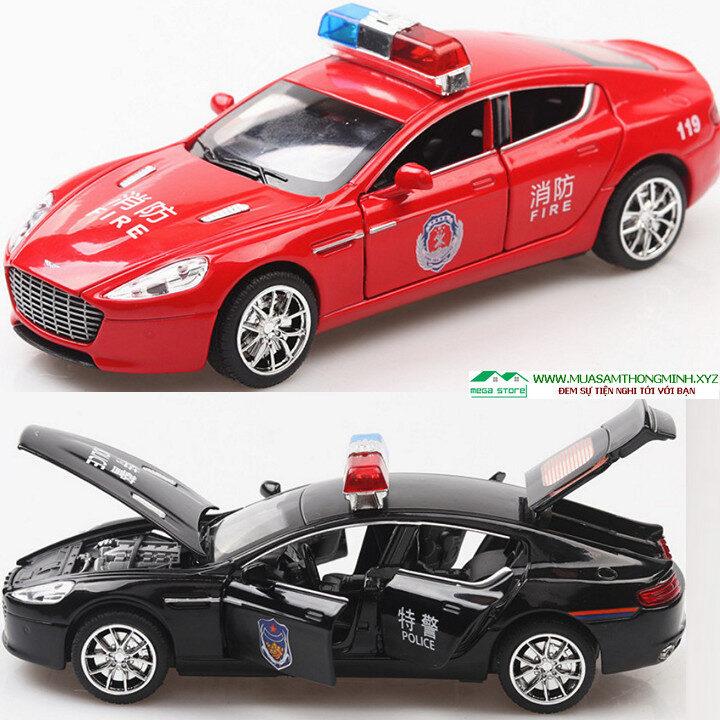 Mô hình xe cảnh sát Aston Martin 6 Police hợp kim - Tỷ lệ 1:32