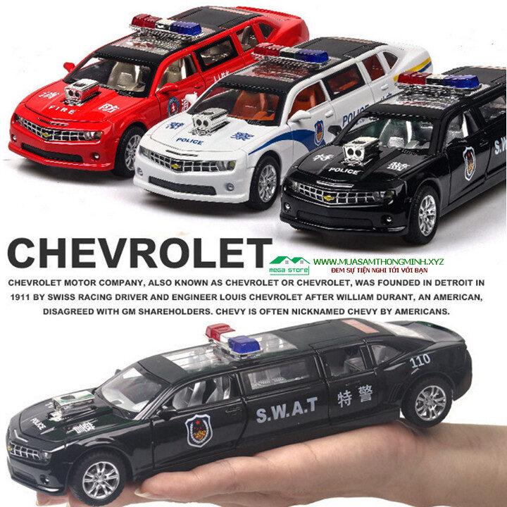 Mô hình xe cảnh sát Chevrolet Hornet bằng kim loại- Tỷ lệ 1:32
