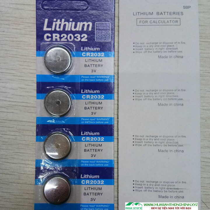 Pin Cúc Áo CR2032 Lithium Battery 3V