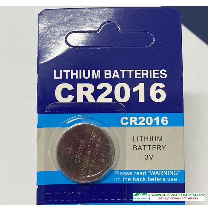 Pin Cúc Áo CR2016 Lithium Battery 3V, Vỉ 5 viên Sử Dụng Cho Các Thiết Bị Điện Tử